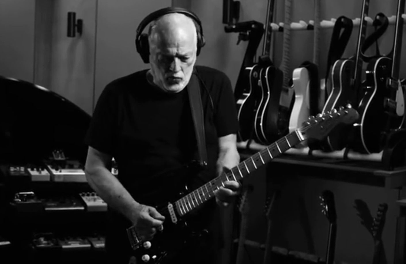 David Gilmour faces of stone video shot 2015