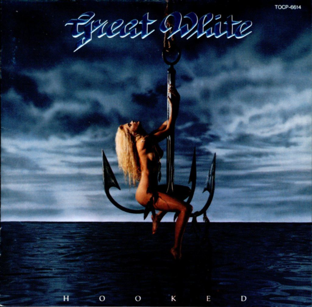 great white hooked