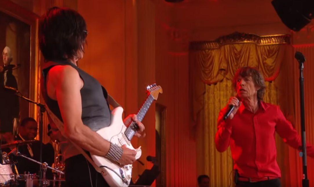 mick Jagger Jeff Beck